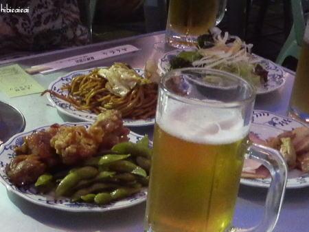 ビアガーデンのビール