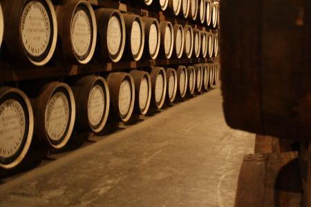 ウイスキーの貯蔵庫